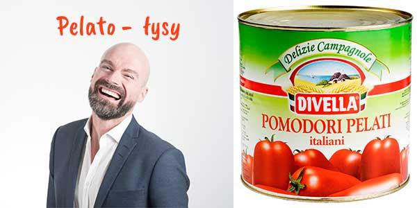 Pelato łysy pomidory pelati