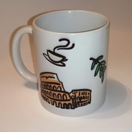 kubek kawa w koloseum