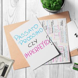 Infografika Passato Prossimo czy Imperfetto?