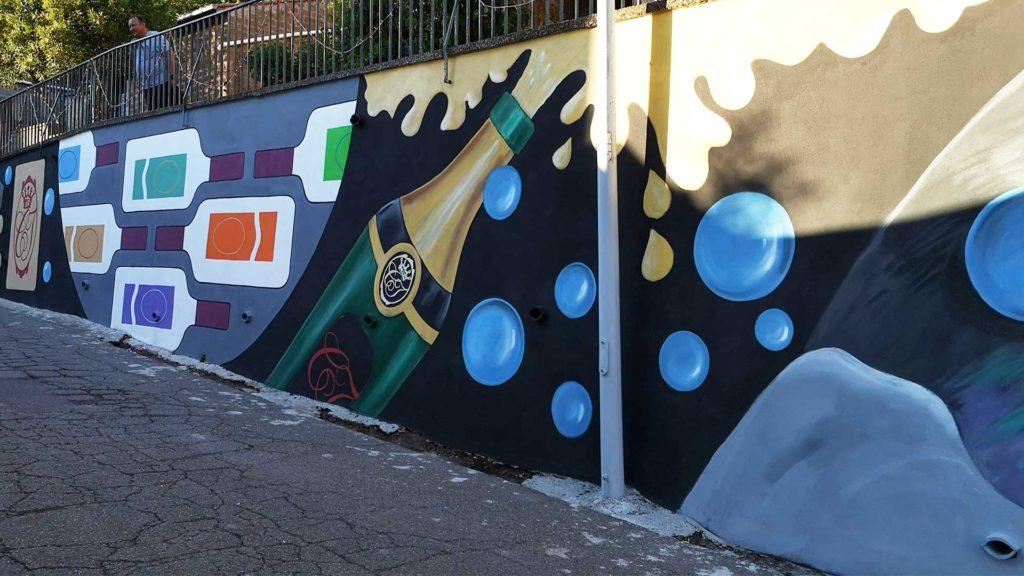 mural wmiasteczku poprostu włoski