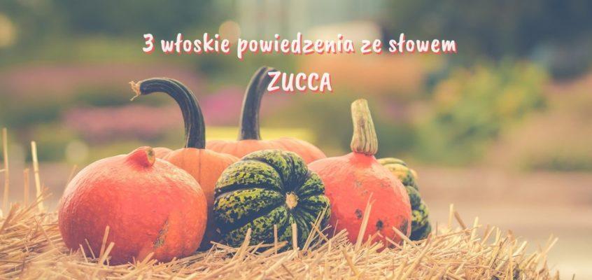 3 włoskie powiedzenia zesłowem ZUCCA