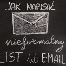 """Kurs on-line """"Jak napisać nieformalny list lub e-mail"""""""