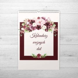 Kwiatowy kalendarz ważnych dat