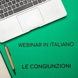 Webinar 20.02.2020 – Le congiunzioni