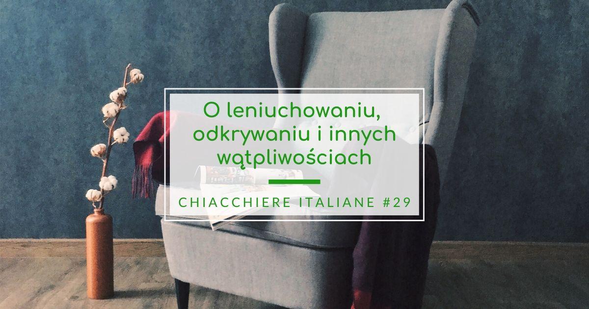 Chiacchiere italiane #29 wątpliwości językowe
