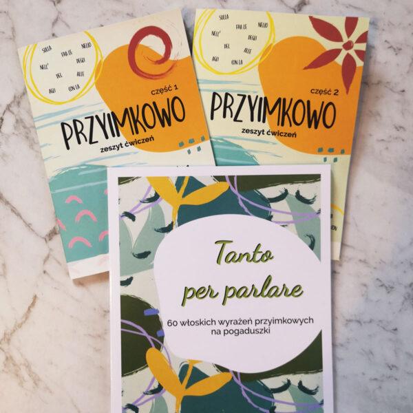 Pakiet książek Przyimkowo 1 i 2 + Tanto per parlare